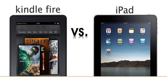 Difference between Kindle Fire and Apple iPad